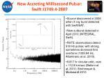new accreting millisecond pulsar swift j1749 4 2807