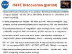 rxte discoveries partial