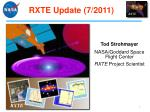 rxte update 7 2011