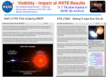 visibility impact of rxte results