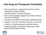 area drug and therapeutic committees