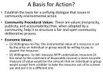 a basis for action