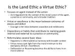 is the land ethic a virtue ethic