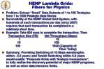 henp lambda grids fibers for physics