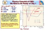 physics potential of cms we need to be ready on day 1