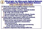 ultralight an ultra scale optical network laboratory for next generation science