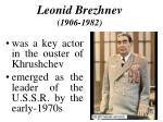 leonid brezhnev 1906 1982
