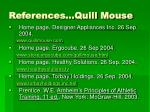references quill mouse