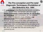 the pre conception and pre natal diagnostic techniques prohibition of sex selection act 199410