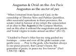 augustus ovid on the ara pacis augustus as the auctor of pax