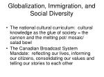 globalization immigration and social diversity