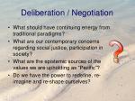 deliberation negotiation