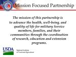 mission focused partnership