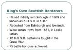 king s own scottish borderers