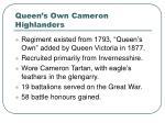 queen s own cameron highlanders