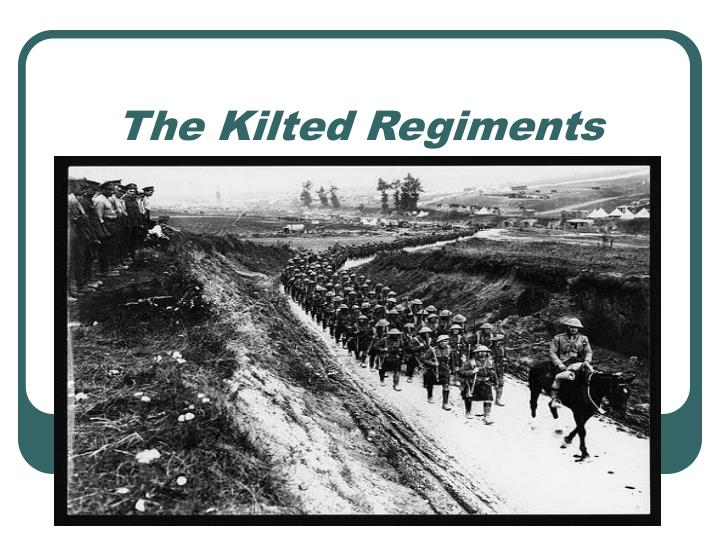 the kilted regiments n.