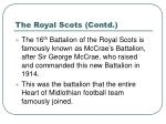 the royal scots contd