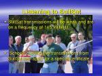 listening to suitsat