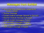 messages from suitsat