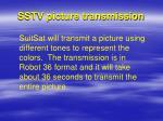 sstv picture transmission