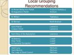 local grouping recommendations