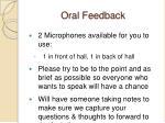 oral feedback
