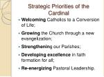 strategic priorities of the cardinal