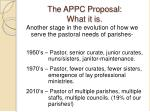 the appc proposal what it is1