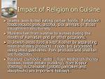 impact of religion on cuisine