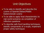 unit objectives