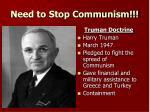 need to stop communism