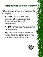 introducing a new partner