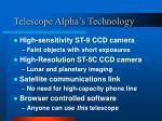 telescope alpha s technology
