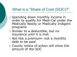 what is a share of cost soc