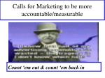 calls for marketing to be more accountable measurable
