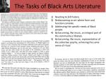 the tasks of black arts literature