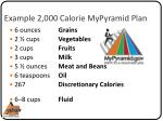 example 2 000 calorie mypyramid plan