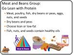 meat and beans group go lean with protein
