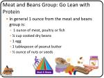 meat and beans group go lean with protein1