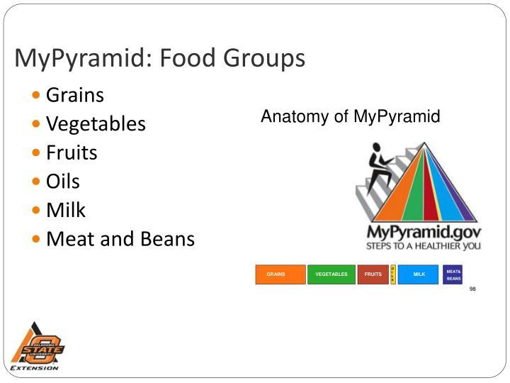 Mypyramid food groups