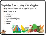 vegetable group vary your veggies