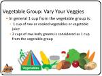 vegetable group vary your veggies1