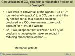 can utilization of co 2 deal with a reasonable fraction of a wedge