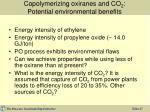 copolymerizing oxiranes and co 2 potential environmental benefits