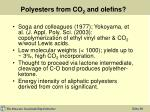 polyesters from co 2 and olefins