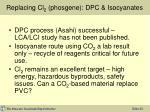 replacing cl 2 phosgene dpc isocyanates