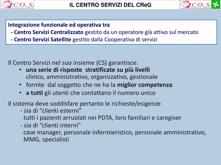 IL CENTRO SERVIZI DEL CReG