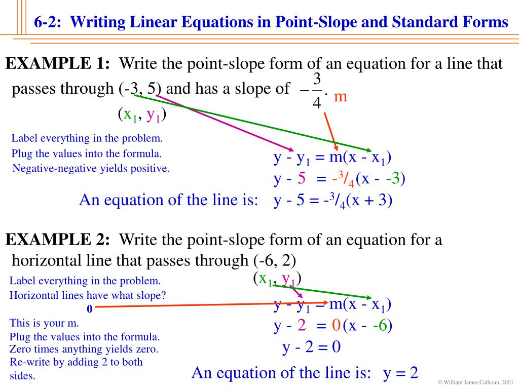 Equation of a line from 2 points ppt tessshebaylo 5 writing equations in point slope form choice image falaconquin