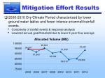 mitigation effort results