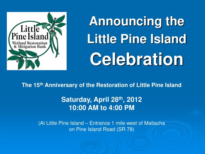 announcing the little pine island celebration n.